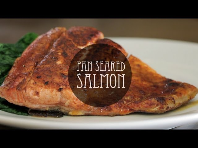 Pan Seared Salmon with Cinnamon and Chili Powder