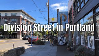 SE Division St in Portland OR Neighborhood Walking Tour Binaural Audio 4K 60ᶠᵖˢ