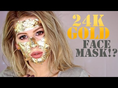 DIY 24K GOLD FACE MASK! (Demo + First Impressions)