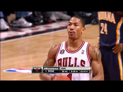 Derrick Rose Full Highlights 2011 Playoffs R1G1 vs Pacers - UNREAL 39 Pts, 6 Dimes, 3 Blocks, MVP!