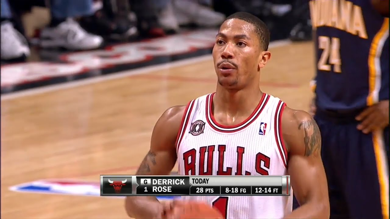 027c0a45baa Derrick Rose Full Highlights 2011 Playoffs R1G1 vs Pacers - UNREAL ...