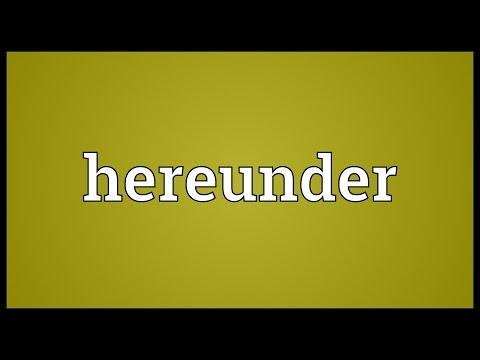 Header of hereunder