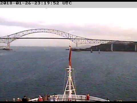 2018-01-26 Cunard MS Queen Elizabeth Panama Canal Full Transit (Atlantic to Pacific)