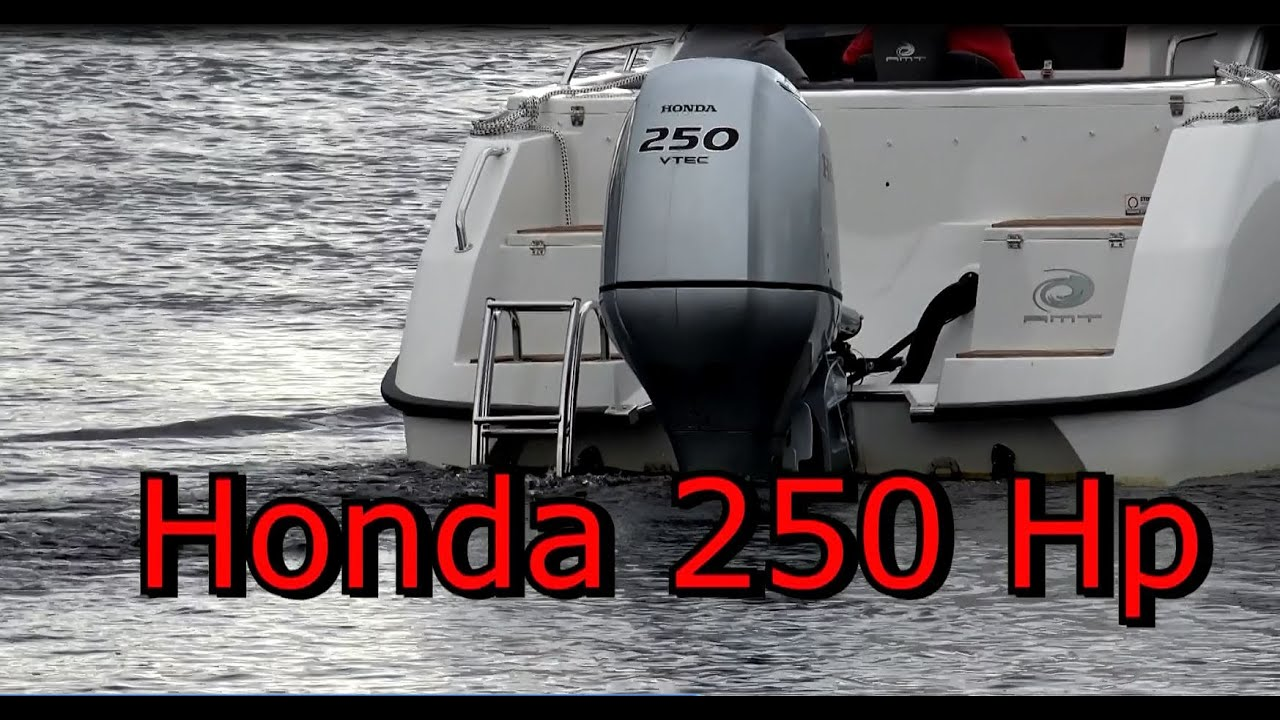 Honda 250 Hp Outboard Engine Monster Boat Youtube