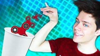 Трюки со спиннером Челлендж / FIDGET Spinner DUNK Challenge ТОП трюки