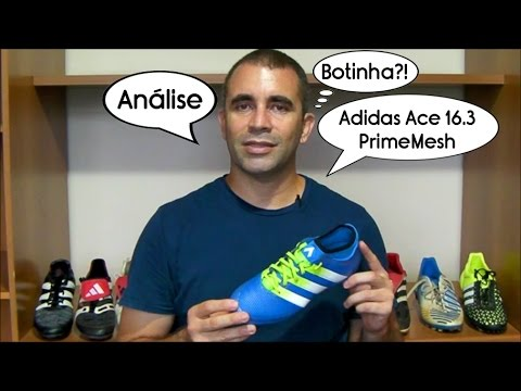 Análise - Chuteira Adidas Ace 16.3 PrimeMesh FG - Blog Só Chuteiras -  YouTube 16134fb8b6484
