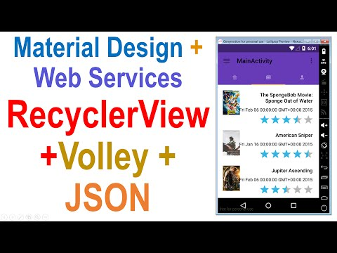 250 Android Web Service Tutorial RecyclerView + Volley + JSON |
