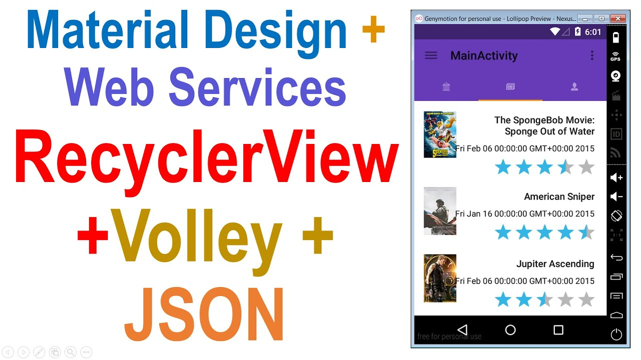 250 Android Web Service Tutorial Recyclerview Volley