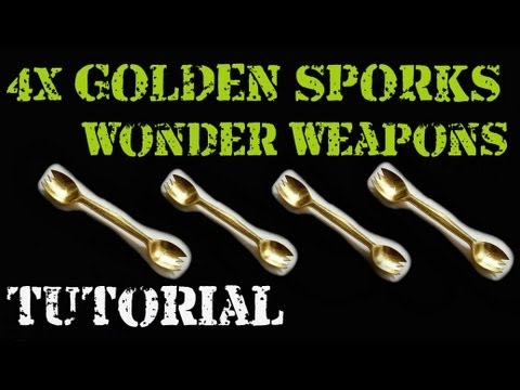 4 GOLDEN SPORKS in Mob of the Dead TUTORIAL  Melee Wonder Weapon