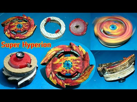 How to make《🔥Super Hyperion🔥》||😀 burst able cardboard beyblade 😰||👉 Sonic Ideas 👈.