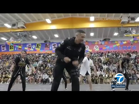 Officer wraps up last day at Don Antonio Lugo High School in Chino on a high note   ABC7