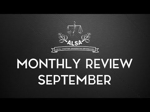 ALSA LC Undip Monthly Review September