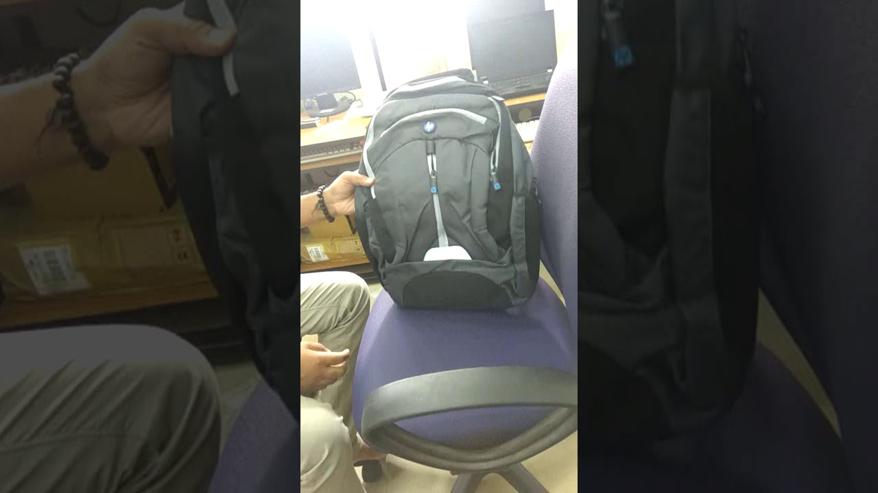 df9f745400 Unboxing Orginal HP 15.6 inch Expandable Laptop Backpack (Grey) Super  Budjet bag.