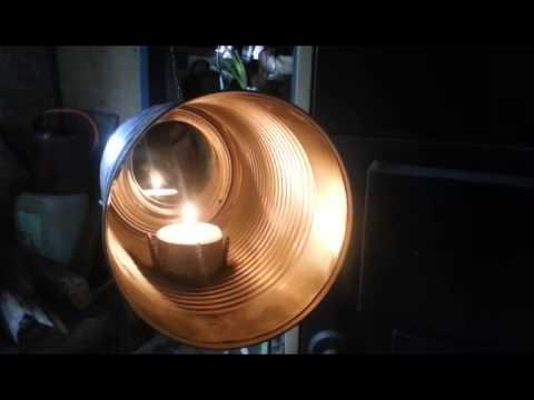 DIY - soup can bullseye tea candle lantern - YouTube