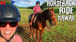 Don't Fall Off Your Horse!! + Puppy Surprise! || Mommy Monday