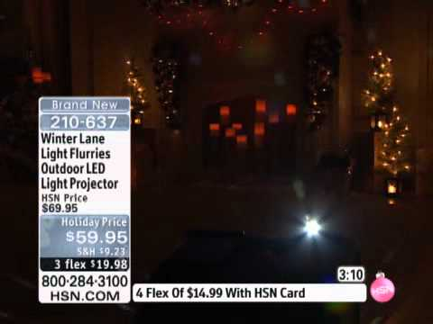 Winter Lane Light Flurries Outdoor LED Light Projector - YouTube