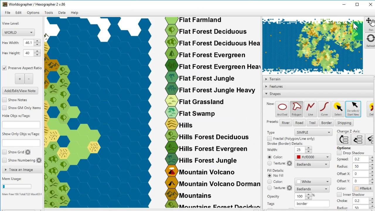 Worldographer Configure Map Key Feature