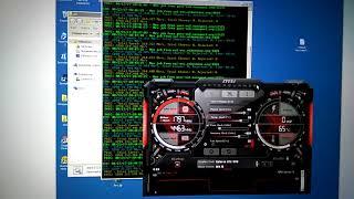 Майнинг Ethereum (эфир) на EVGA gtx 1070 Supercloked