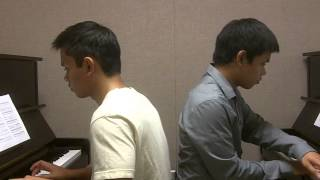 "Disney - ""Paperman"" by Christophe Beck (Piano Duet by ThePianoBros)"