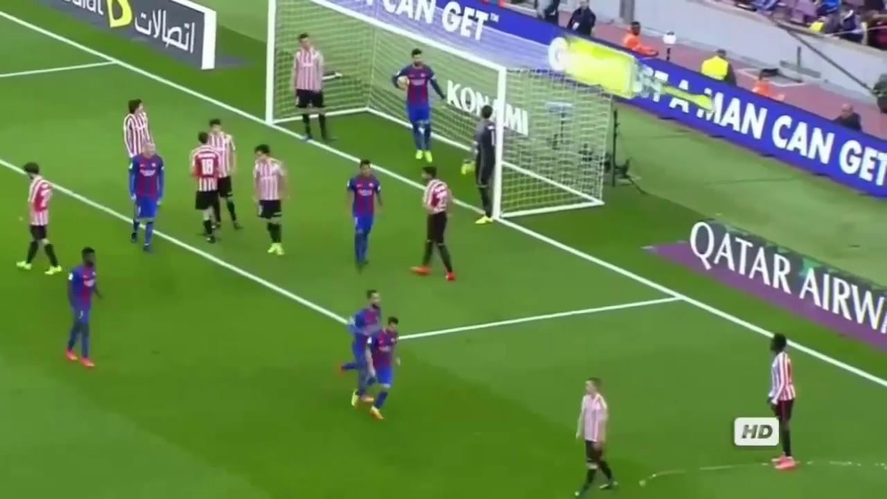Lionel Messi Goal - Barcelona vs Athletic Bilbao 3 0 - La ...