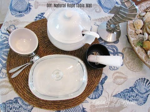 DIY Natural Rope Table Mat and Placemats