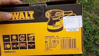 Розпакування ексцентрикової шліфмашини DeWalt DWE 6423