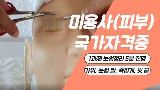 미용사(피부) 국가자격증 / 실기 / 1과제 얼굴관리 …