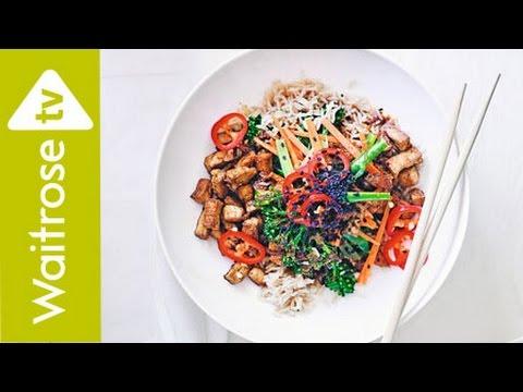 Crispy Tofu Rice Bowl With Soy Lime Dressing | Waitrose