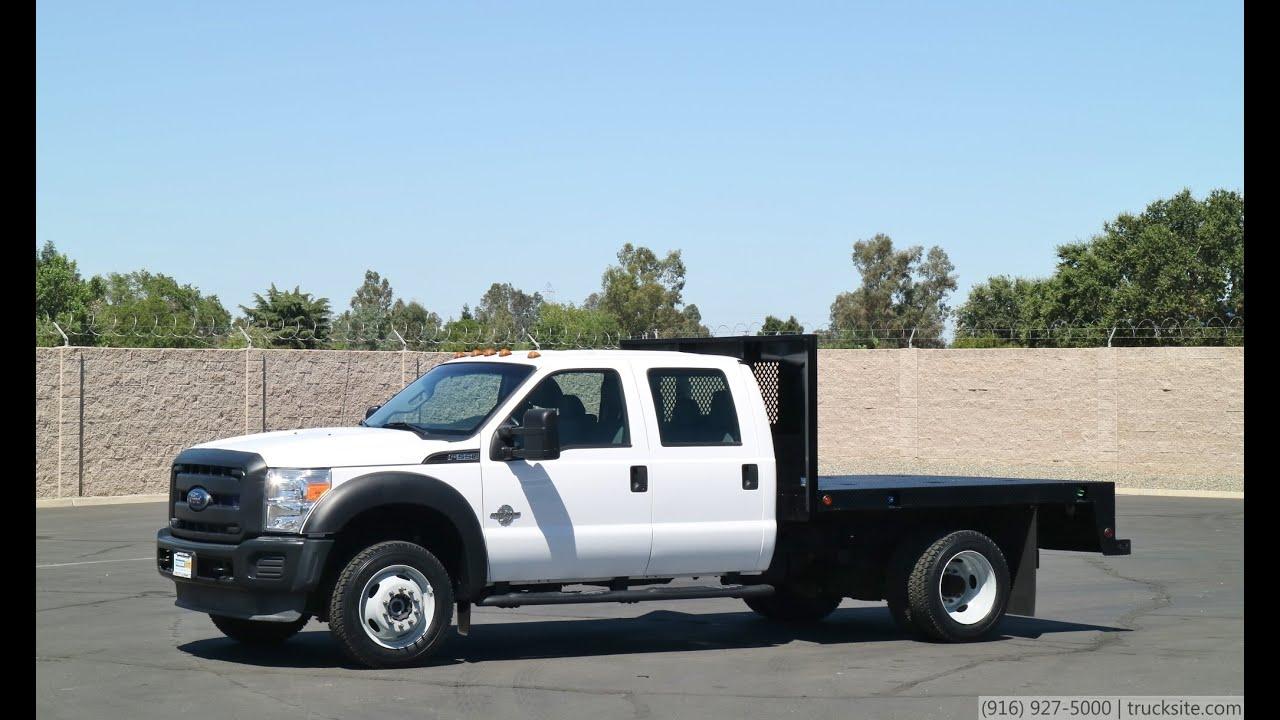 2014 Ford F550 Crew Cab 4x4 9 Flatbed Truck
