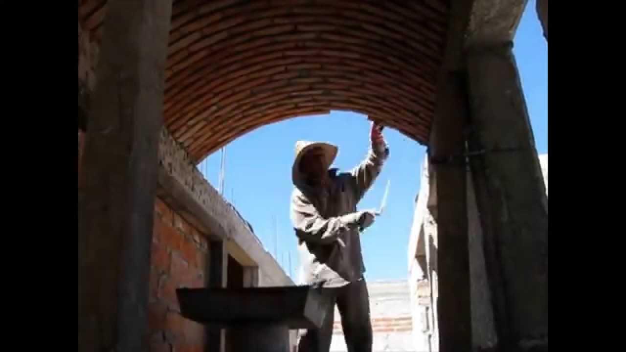 B veda catalana de ca n para escalera en esquina - Construccion de chimeneas de ladrillo ...