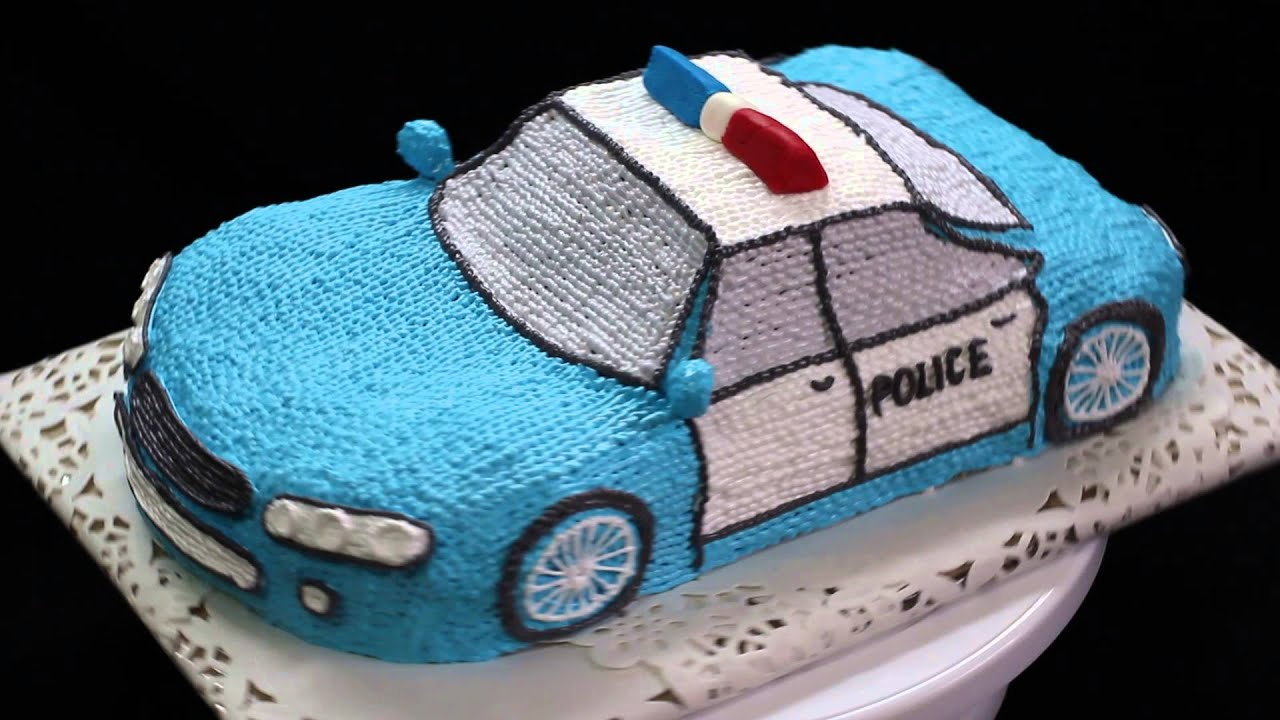 Cake Designs With Cars : police car cake design - YouTube