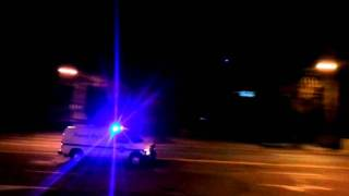 Washington Metro Transit Police Flying with Lights & Sirens