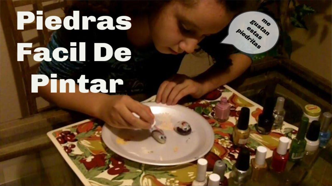 Piedras facil de pintar youtube for Pintura para pintar piedras