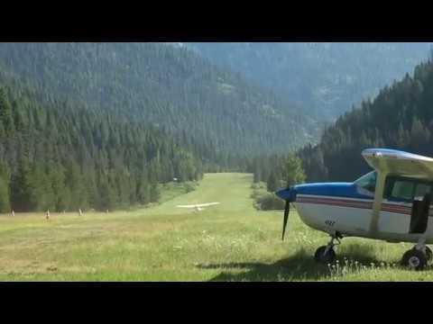 flying into big creek idaho U60 p720