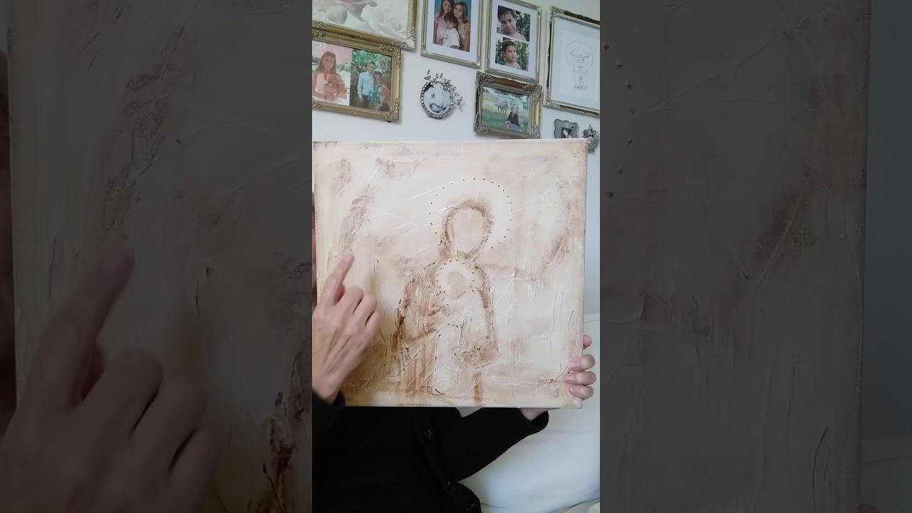 Mina nya Maria och Jesus-tavlor
