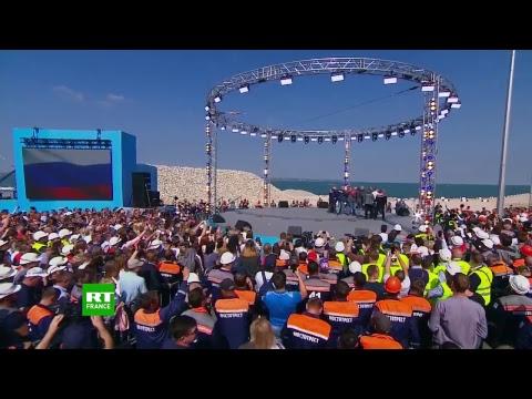 Inauguration du pont le plus grand de Russie, reliant la Crimée au territoire de Krasnodar