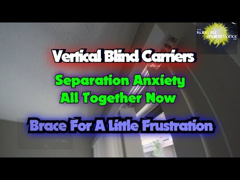 Vertical Blind Carriers Separation Anxiety All Together Now Brace For Little Frustration