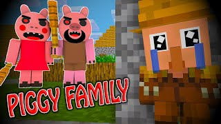 Monster School: PIGGY FAMILY - Minecraft Animation