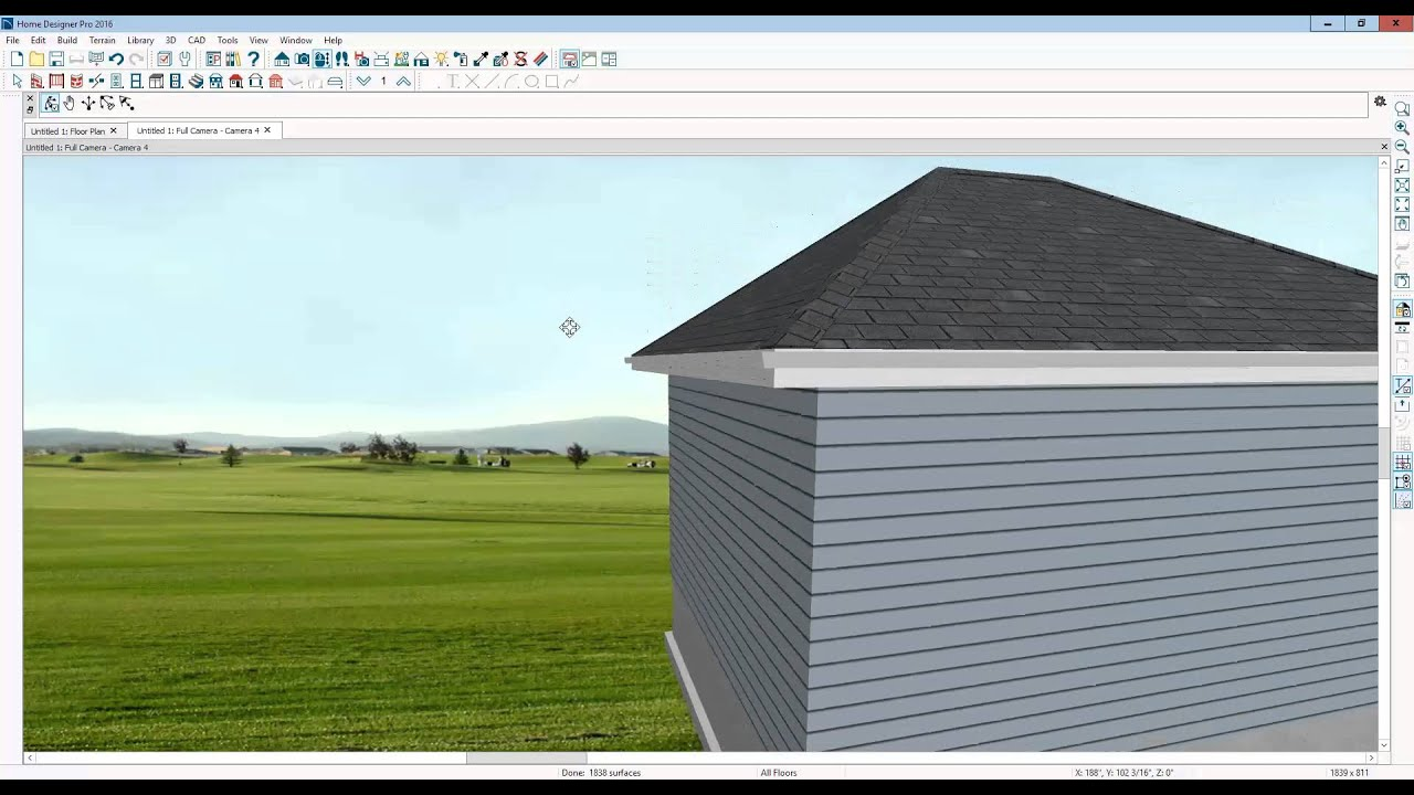 how to create exposed rafter tails in home designer pro 2016 youtube