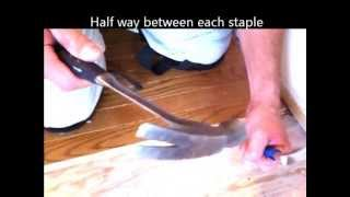 How to remove hardwood EASY