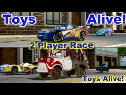 Cars 2 The Video Game 2 Player Splitscreen Race On Hyde Tour