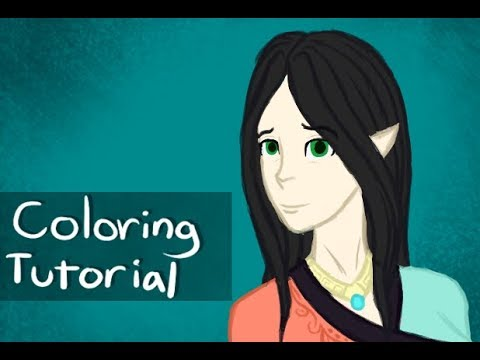 Digital Art Coloring Tutorial – with commentary