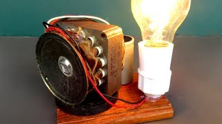 DIY Electric free energy generator  220 Volts - Easy experiment Test with Light bulb