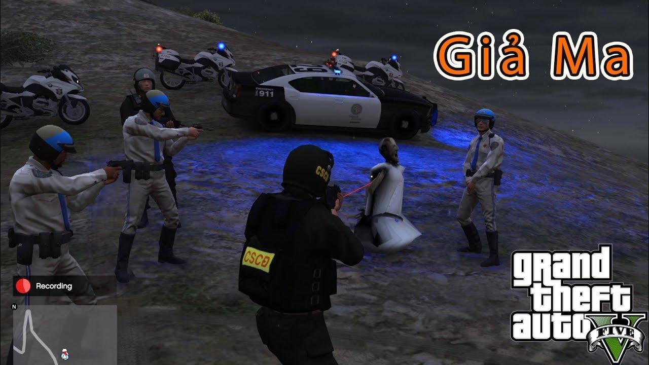 GTA 5 Mod – Cảnh Sát Cơ Động Lên Núi Bắt Ma Nữ