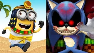 Despicable Me Minion Rush vs SONIC EXE The Last Hope of Mobius