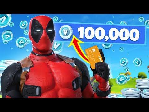 I Tried Spending 100,000 VBucks In 1 Day (Fortnite)