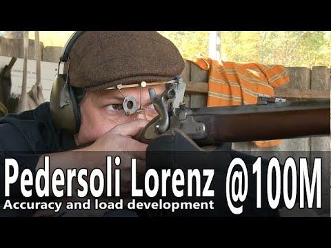 Shooting the Pedersoli 1854 Lorenz rifle to 100 m