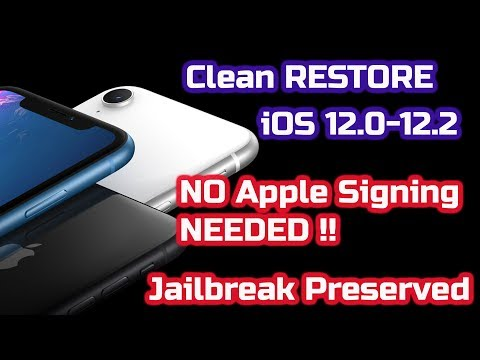 Clean Restore IOS Device To The Same IOS Firmware Even {if Apple Stopped Signing}