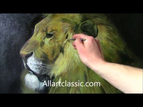 Reclining Lion II-Animals and Wildlife Painting