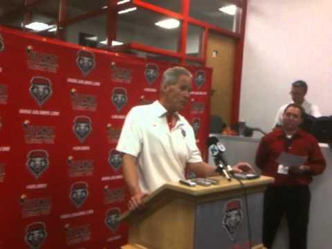 UNM Football: Coach Bob Davie Post Game Comments 09/30/12